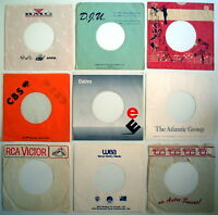 LOT OF 9 VINTAGE SLEEVES OF 45 RPM RECORD ** 9 ANCIENNES ENVELOPPES DE 45 TOURS,