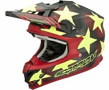 CASCO HELMET CROSS ENDURO QUAD MOTO SCORPION VX 15 EVO AIR STADIUM NERO GIALLO S