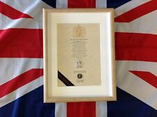 Oath Of Allegiance Royal Pioneer Corps  (framed with Cap Badge)
