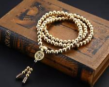 Solid Brass 108 Buddha Beads Necklace Bracelet Soft Whip WuShu Fitness Equipment