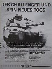 2/85 PUB BARR & STROUD PILKINGTON ELECTRO-OPTICAL TOGS CHAR CHALLENGER GERMAN AD