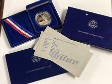 1986 Silver Commemorative Proof Liberty Dollar $1 W/ Box COA