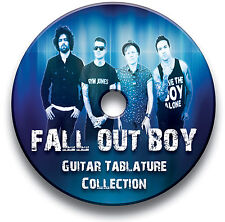 FALL OUT BOY ROCK GUITAR TAB TABLATURE SONG BOOK SOFTWARE CD