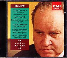 David & Igor OISTRAKH: BRAHMS MOZART Concerto KLEMPERER CD Sinfonia Concertante