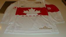 Team Canada 2014 Sochi Winter Olympics Hockey Jersey Small White Twill Ice