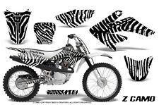 HONDA CRF 70 GRAPHICS KIT CREATORX DECALS STICKERS ZCAMO WHITE