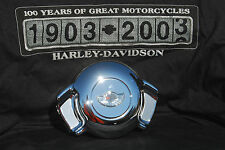 HARLEY AIRWING HORN COVER W/ 100TH ANNIVERSARY PRISMATIC MEDALLION