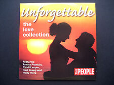 UNFORGETABLE - THE LOVE COLLECTION,  CD, A THE PEOPLE NEWSPAPER PROMOTION (1 CD)