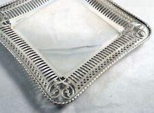 """ANTIQUE 1818 Gorham Silver Soldered Pierced Victorian Tray  Dish #0526    6 3/4"""""""
