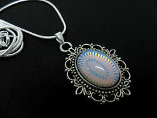 A LOVELY OPALITE PENDANT NECKLACE.  NEW.