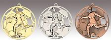 100x Medaille Fußballmedaille mit Umhängeband und Beschriftung