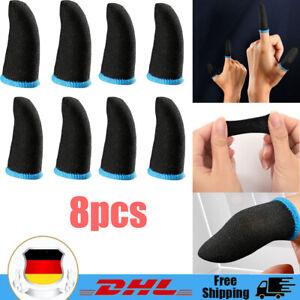 8pcs Finger Sleeve Handschuhe Touchscreen Für PUBG Mobile Games Controller
