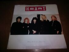 "Heart 'Who Will You Run To' 45 RPM Record 7"" Vinyl with Picture Sleeve"