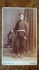1880'S ANTIQUE CDV PHOTOGRAPH SOLDIER - WYATT & PHILLIPS FAREHAM HAMPSHIRE