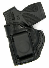 TAGUA BLACK LEATHER LEFT HAND IWB CONCEALMENT HOLSTER for TAURUS TCP 380