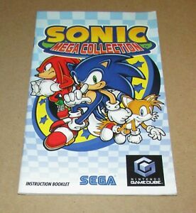 Sonic Mega Collection (Instruction Manual Only) Nintendo GameCube Authentic