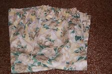 DORMA * PAINTERS BOUQUET * PAIR LINED CURTAINS 66 ins  x 54 ins Excellent cond