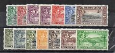 Sierra Leone 1938-44 values to 10s MLH