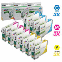 LD Reman Ink Cartridge for Epson 125 T125 CMY Set of 9: T125220 T125320 T125420