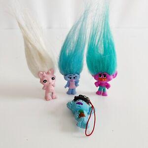 Lot 4 x Zelfs Trolls Pencil Topper Figure Toy Bundle Lot