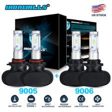 4X 9005+9006 6000K 3240W 486000LM Combo CSP LED Headlight Kit Hi/Lo Light Bulbs