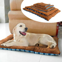 Warm Fleece Dog Cat Soft Pet Bed Mat Pad Sleeping Cushion Blanket Washable XS-XL