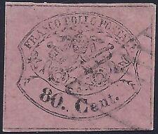 STATO PONTIFICIO 1867 - 80 Cent. n. 20 USATO LUSSO Cert. FERRARIO € 850