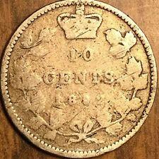 1892 CANADA SILVER 10 CENTS
