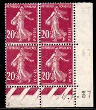 Coin daté Semeuse n° 190b du 4/8/1937 **