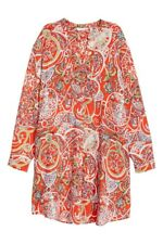 NWT - Red Patterned H&M Tunic, Size 8