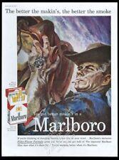 1959 Marlboro Man cowboy art Marlboro cigarettes vintage print ad