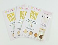 3 X TOO FACED Tutti Frutti DEW YOU Full-Coverage Foundation 4-Shade Sample Card