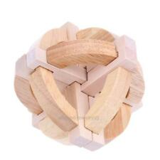 3D Wooden Kongming Luban Lock Kid Educational Toy Adult Brain Teaser Puzzle Game