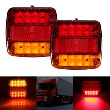 2X LED REAR TAIL LIGHTS LAMP 12V TRAILER TRUCK BUS VAN STOP INDICATOR REVERSE
