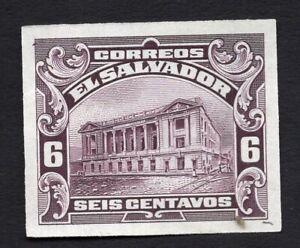 Salvador 1920s stamp 6 centavos proof MNG RRR!!!