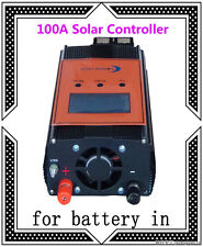 "2400W 100AMP Smart Solar Controller,DC 12V / 24V,3.5""LCD,For 18V-54V Solar Panel"