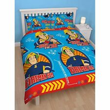 FIREMAN SAM 'BRAVE' DOUBLE DUVET COVER SET REVERSIBLE NEW BEDDING