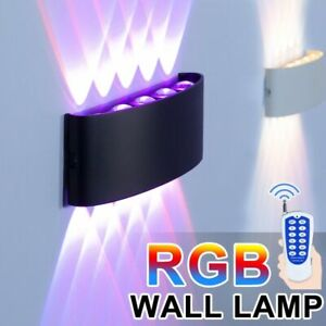 Led Wall Lamps Rgb Remote Dimming Decoration Lighting Aluminum Ac 85-265v 10w