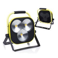 Portatile a LED Riflettore Lampada da lavoro 50w Giallo Nero + Supporto & Cavo U...