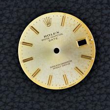 ROLEX Zifferblatt GOLD 15003 15238 15223 15053 Oyster Perpetual DATE DIAL 34mm