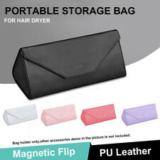 Travel Portable Bag Storage Case For Dyson Hair Dryer PU Leather Waterproof 33CM