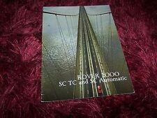 Catalogue / Brochure ROVER 2000 1973 //