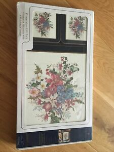 Pimpernel Placemats And Coasters Floral Hummingbird Cottagecore  Set Of 6 New