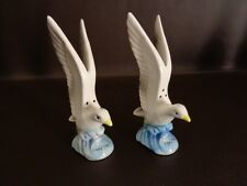 Beautiful Vintage Seagull Salt & Pepper Shakers Nanco Japan (Cat.#11A011)