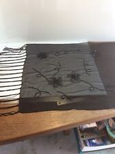 Black Scarves Shawls Wrap. About 20 X 68.