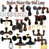 Vintage Modern Tap Industrial Rustic Steampunk Metal Water Pipe Wall Lights UK