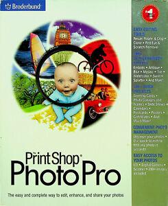 PrintShop PhotoPro (PC, 1999) #378374W-BX - Broderbund Software