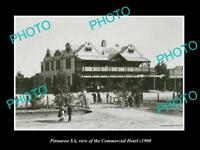 OLD LARGE HISTORIC PHOTO OF PINNAROO SA, VIEW OF THE COMMERCIAL HOTEL c1900