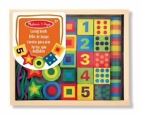 Melissa & Doug Deluxe Wooden Lacing Beads Educational Activity With 27 Beads