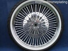 DNA Mammoth 52 Spoke Chrome 21 Front Wheel 2 Rotors WW Tire Harley Touring 09-20